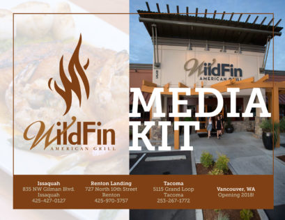 WildFin American Grill Press Kit designed by Fingerprint Marketing