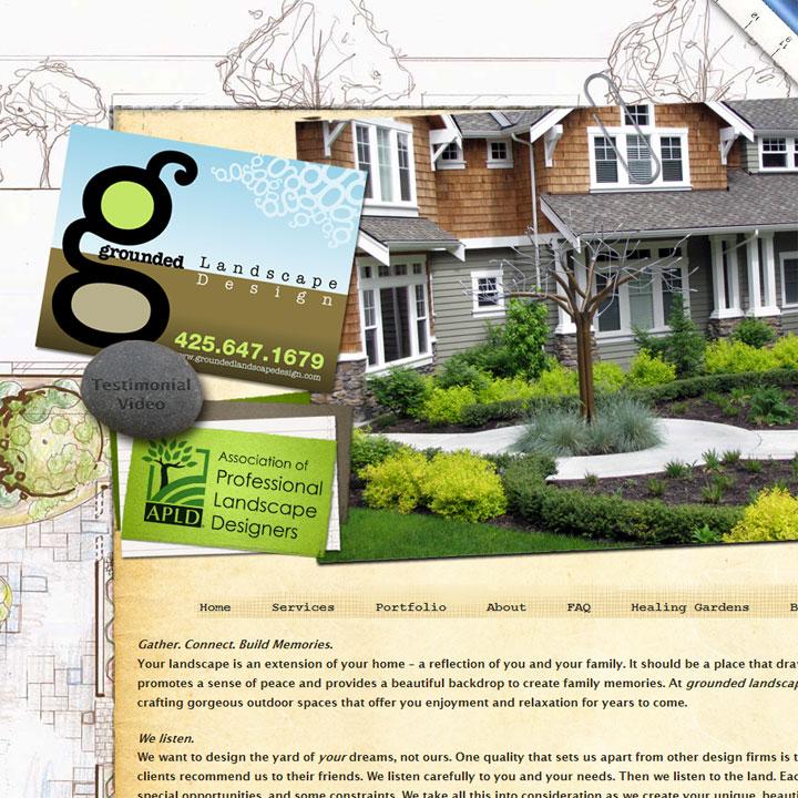 Grounded Landscape Design website designed by Fingerprint Marketing
