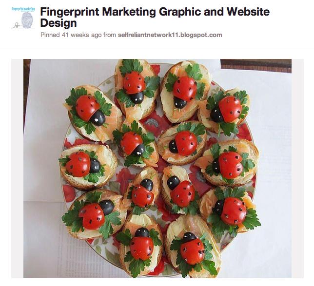 Fingerprint Marketing Pinterest Account