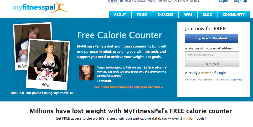 My Fitness Pal Website Disaster