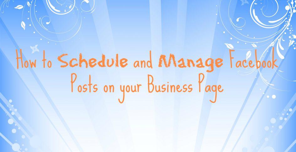 Manage Facebook