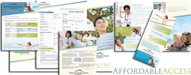 Logo Design & Print Marketing Design for Health Clinic