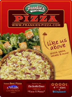 Frankie's Pizza Social Media