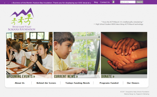 Web Design & Development for Snoqualmie Schools Foundation