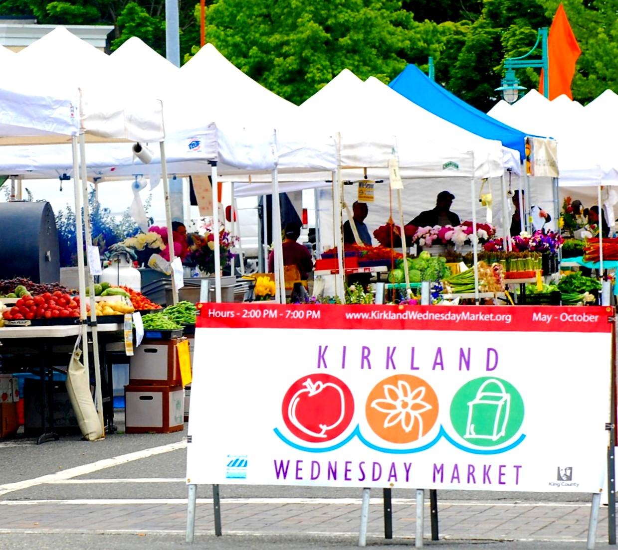 Wednesday Market Downtown Kirkland Marina Park