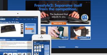 Kinesis Ergo website designed by Fingerprint Marketing