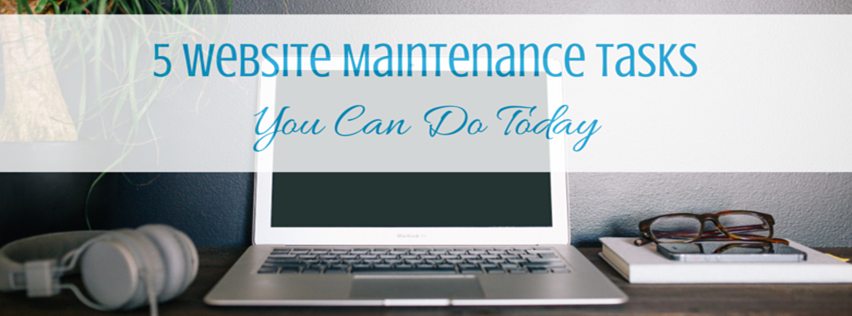 5WebsiteMaintenanceTasksToday