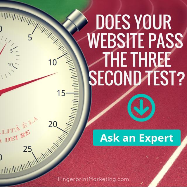 website 3 second test