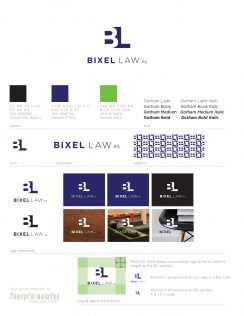 Bixel Law Style Guide | Graphic Design | Fingerprint Marketing (2015)
