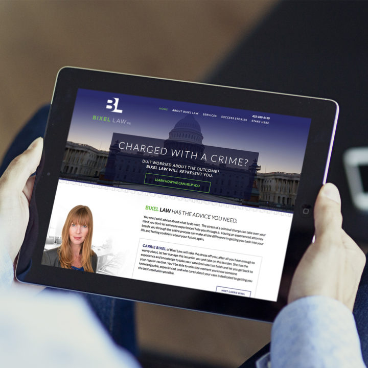 Bixel Law Website designed by Fingerprint Marketing. (2015)