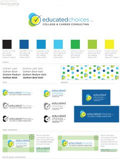 Educated Choices Style Guide designed by Fingerprint Marketing.