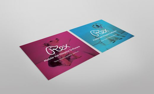 REX Veterinary business cardsdesigned by Fingerprint Marketing