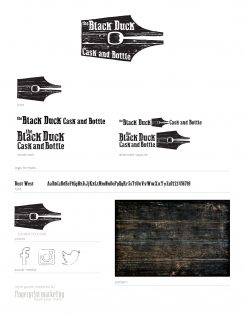 Style Guide for The Black Duck Cask and Bottle