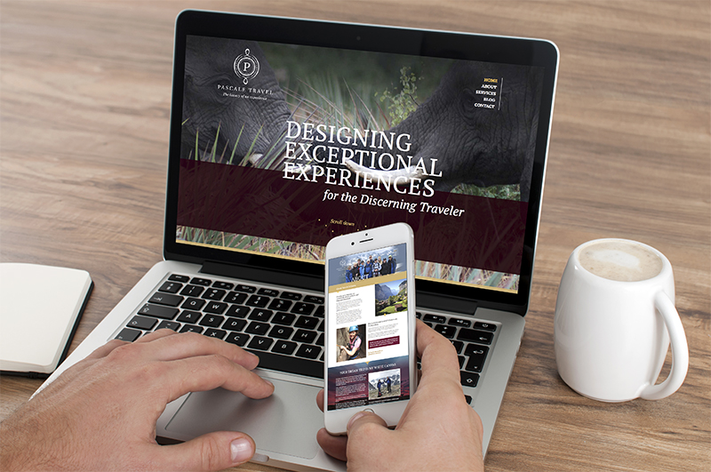 Pascale Travel Website Designed by Fingerprint Marketing