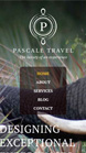 Pascale Travel website on iphone
