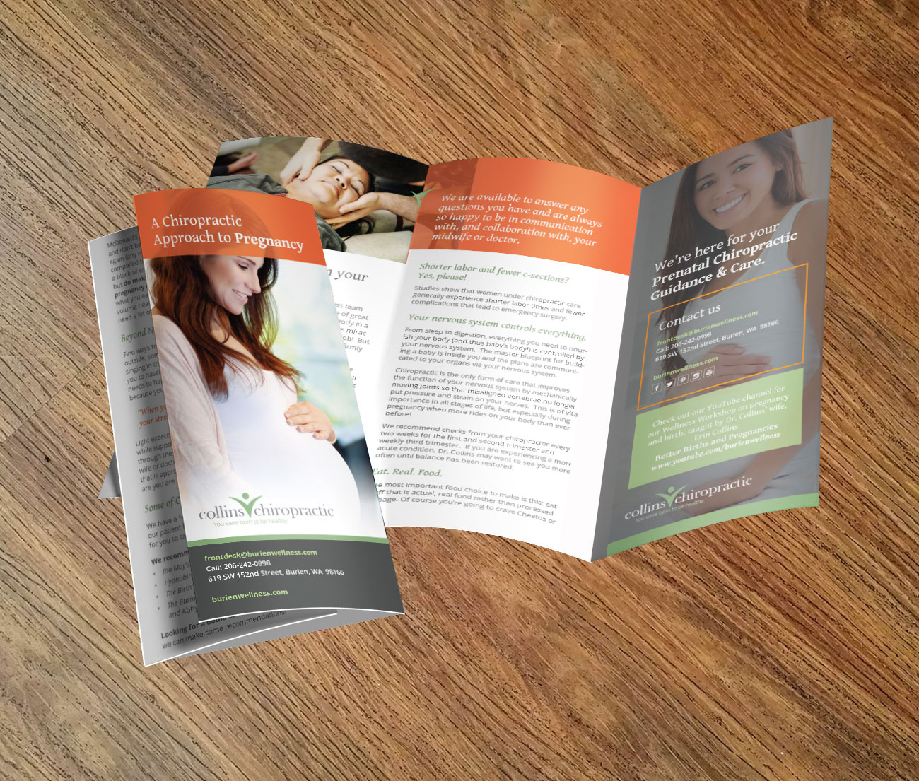 Burien Wellness Brochure designed by Fingerprint Marketing