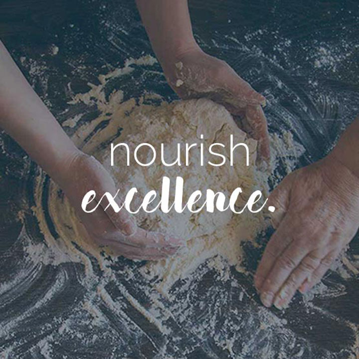 Nourish Catering website designed by Fingerprint Marketing