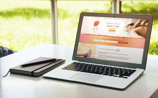 Art of Healing Touch website designed by Fingerprint Marketing