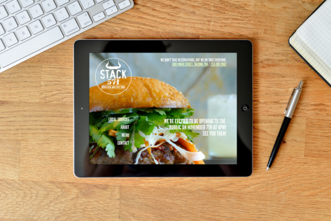 Stack 571 Burger & Whiskey Bar website designed by Fingerprint Marketing