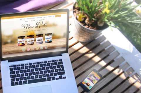 Mesa de Vida website designed by Fingerprint Marketing