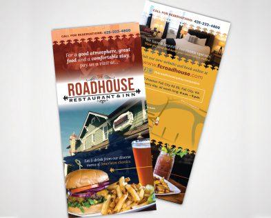 The Roadhouse Restaurant and Inn flyers designed by Fingerprint Marketing