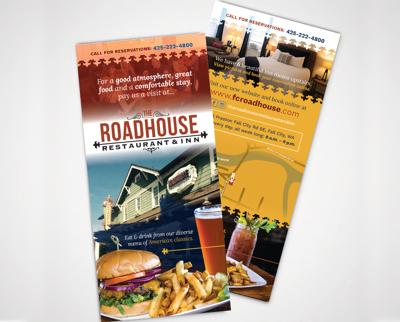 The Roadhouse Restaurant and Inn flyers designed by Fingerprint Marketing