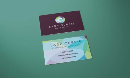Business card design for Currie Support Services_design by Fingerprint Marketing