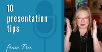 Top 10 presentation tips from Pia at Fingerprint Marketing
