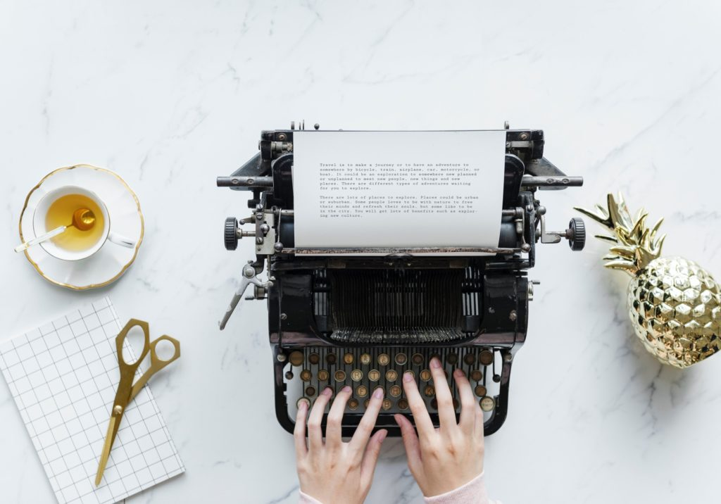 typewriter for content creation