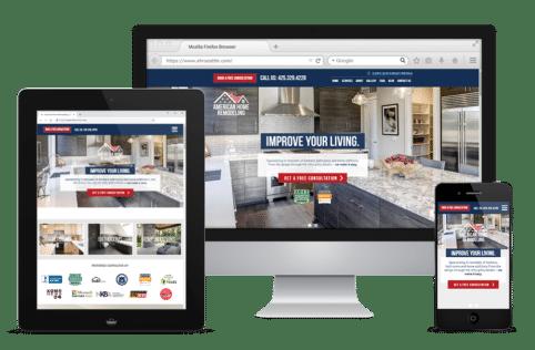 American Home Remodelling Website Display